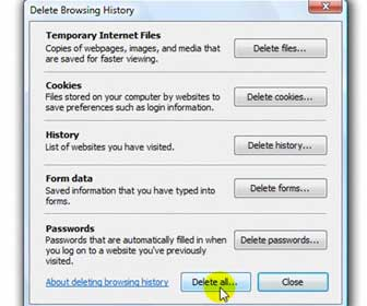 Learn How-To Delete Internet Explorer and Firefox History, Cookies, Passwords and Cache