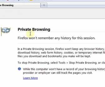 How-To Use the Firefox 3.5+ Private Browsing Feature