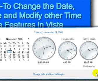 Learn How-To Change the System Date and Time in Vista