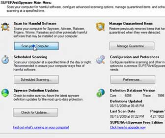 How-To Remove Spyware, Malware and Adware from Your PC using SUPERAntiSpyware