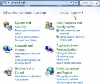 How-To Navigate around the Windows 7 Control Panel