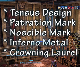 Tera – Crafting VM5 Tensus Weapons and Armor Tutorial