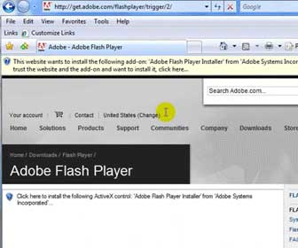 Learn How-To Install the Adobe Flash Player onto Internet Explorer