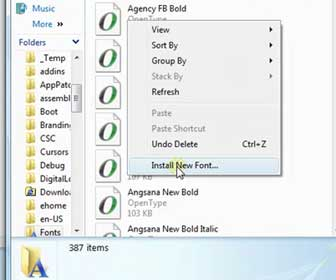 Learn How-To Install a Font in Windows Vista