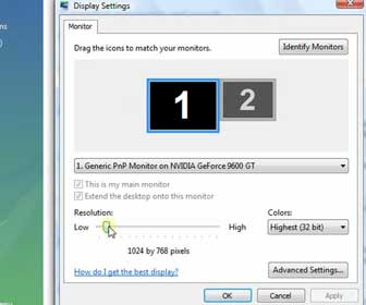 How-To Modify Monitor Display Settings in Windows Vista