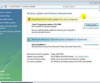 Learn How-To Update Vista Using Windows Update