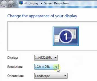 How-To Change your Monitor Resolution and Refresh Rate in Windows 7